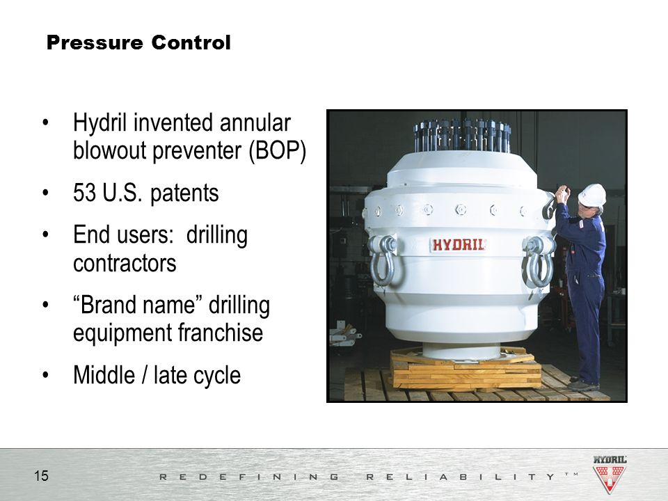 Hydril invented annular blowout preventer (BOP) 53 U.S. patents