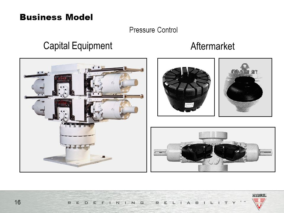 Capital Equipment Aftermarket Pressure Control Business Model Notes:
