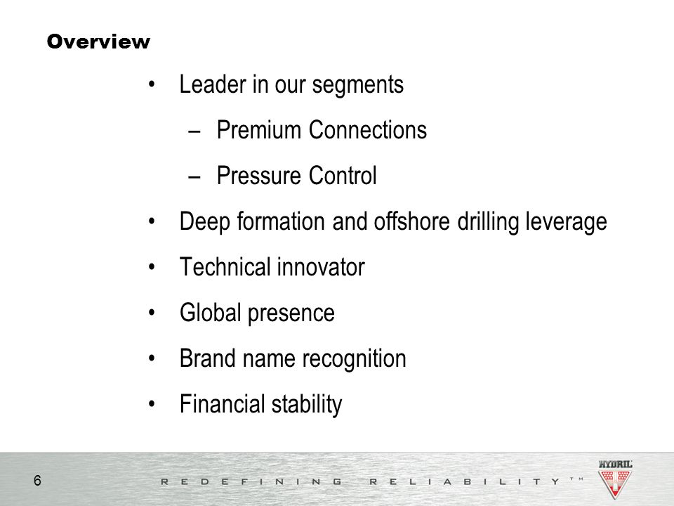 Deep formation and offshore drilling leverage Technical innovator