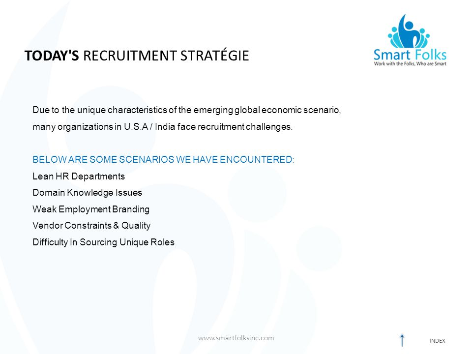 TODAY S RECRUITMENT STRATÉGIE