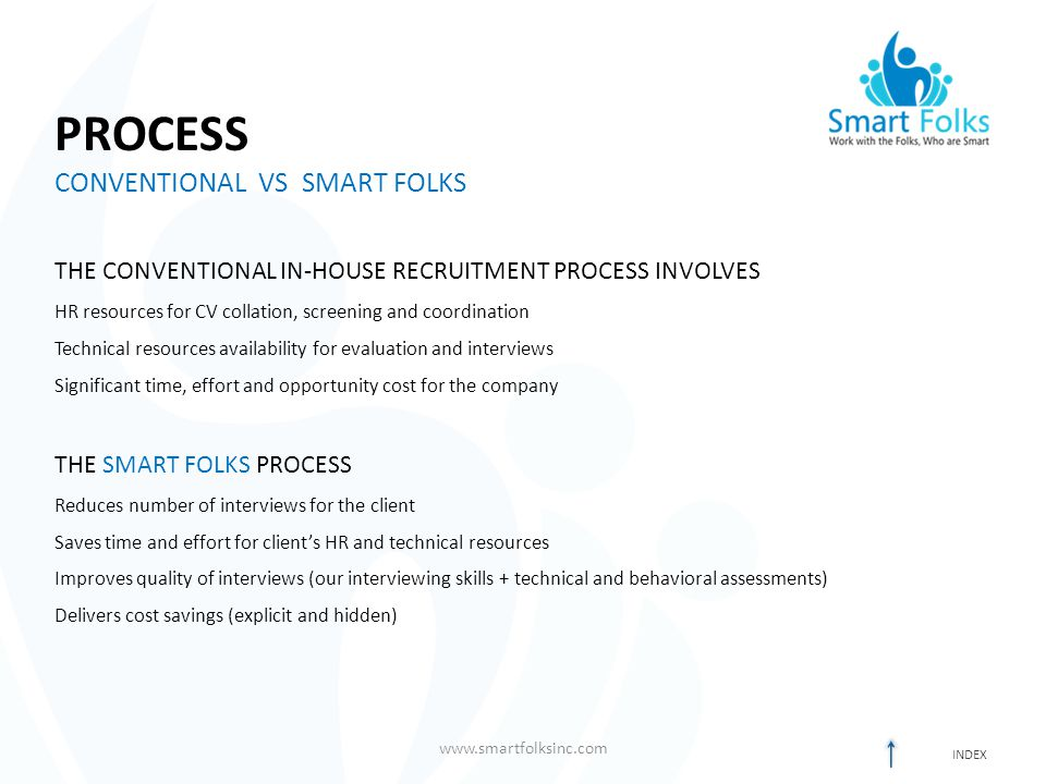 PROCESS CONVENTIONAL VS SMART FOLKS