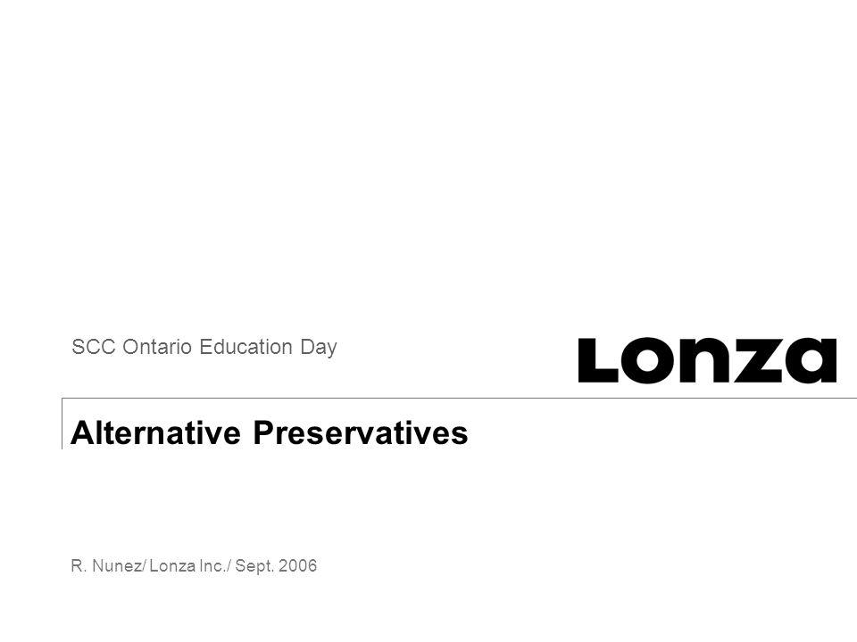 Alternative Preservatives