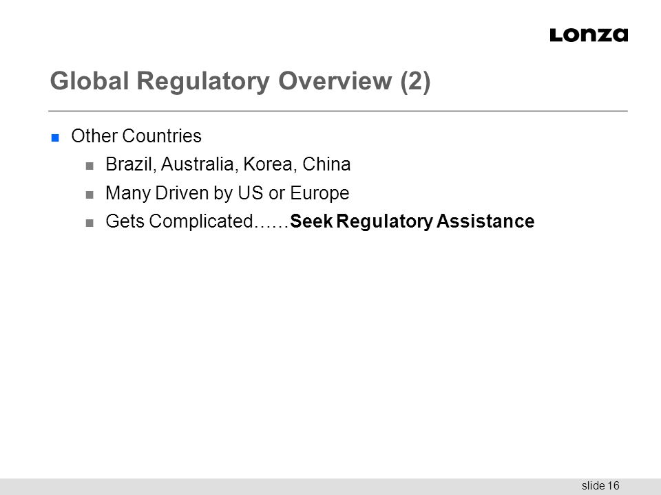 Global Regulatory Overview (2)