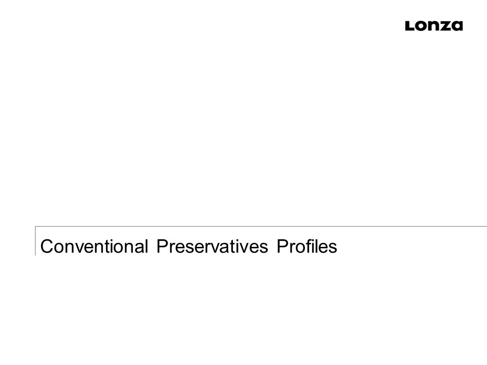 Conventional Preservatives Profiles