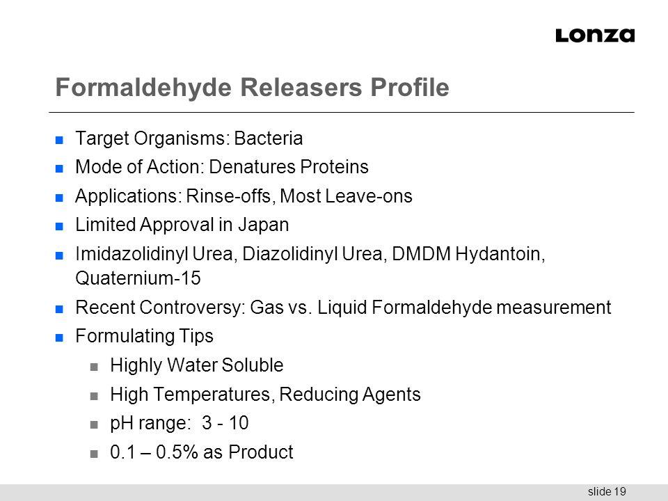 Formaldehyde Releasers Profile