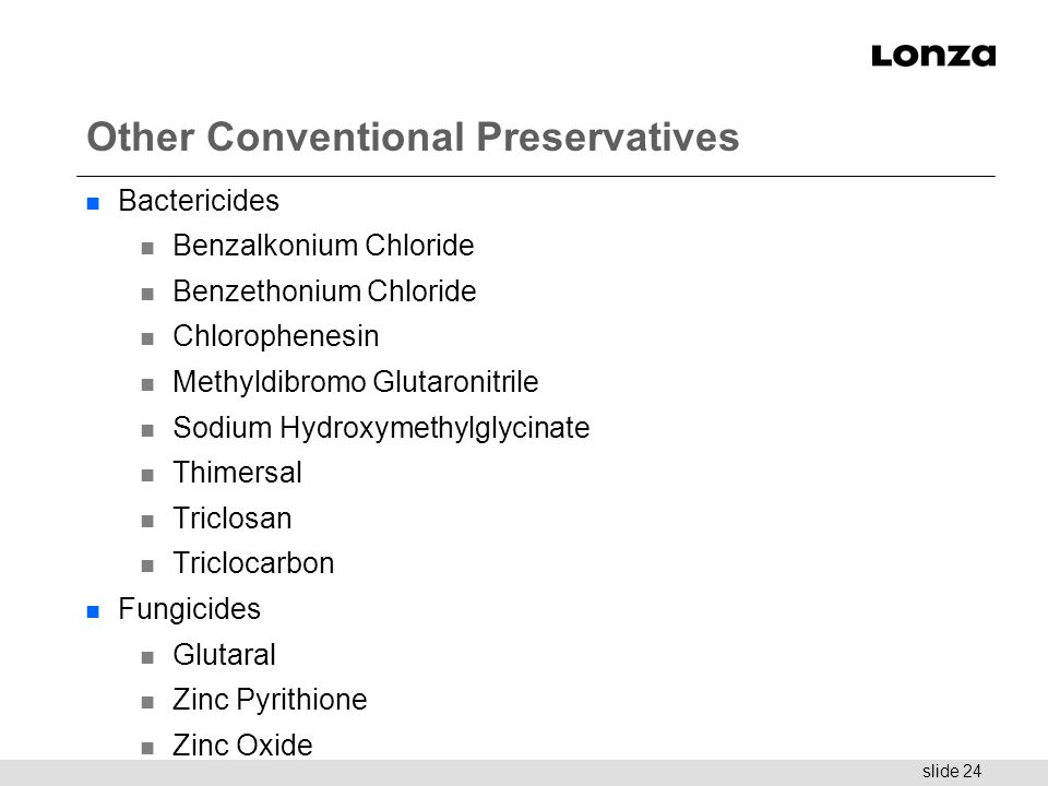 Other Conventional Preservatives