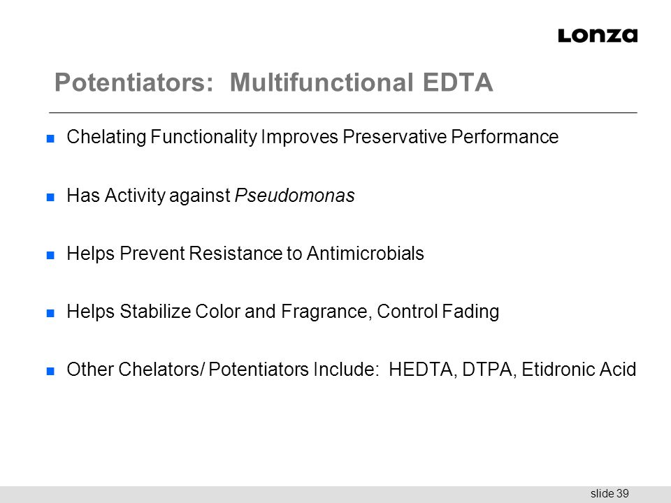 Potentiators: Multifunctional EDTA