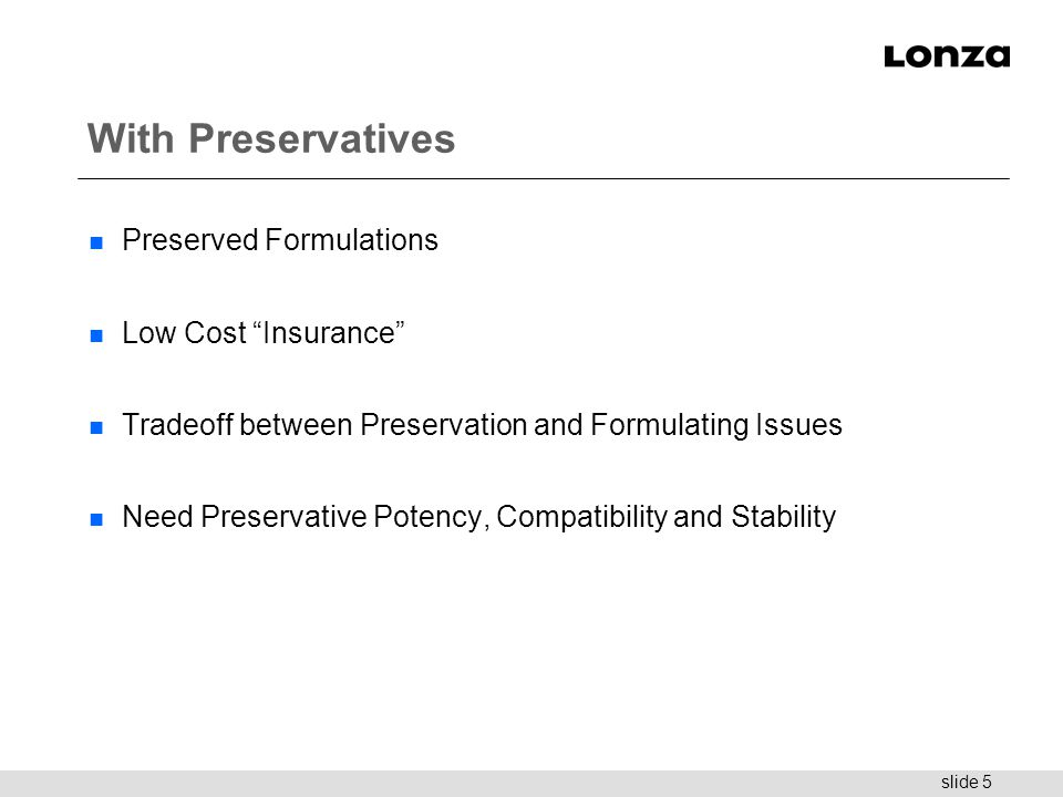With Preservatives Preserved Formulations Low Cost Insurance