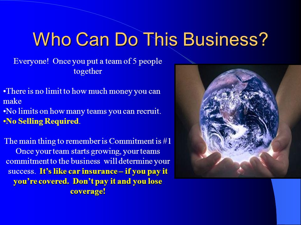 Who Can Do This Business