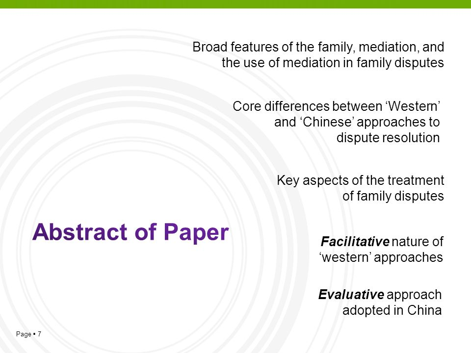Broad features of the family, mediation, and the use of mediation in family disputes