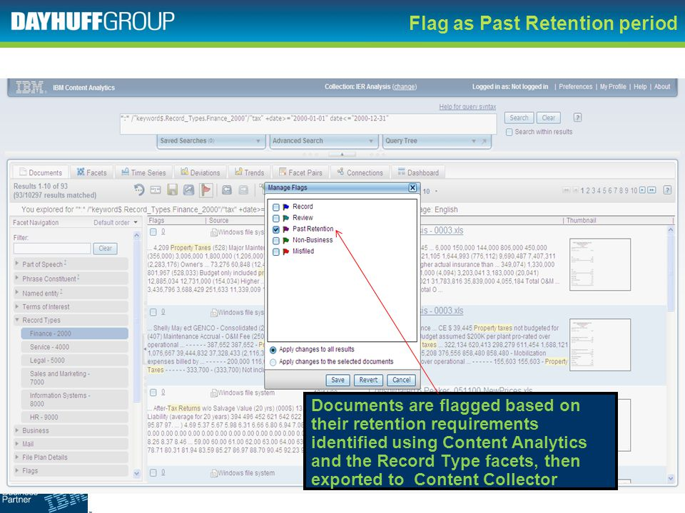 Flag as Past Retention period