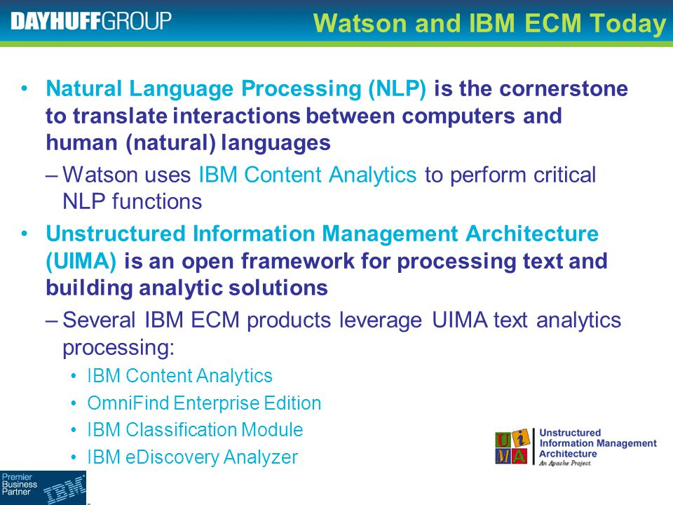 Watson and IBM ECM Today