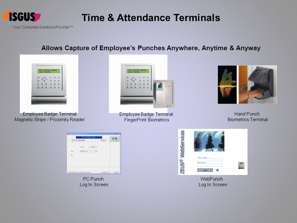 Time & Attendance Terminals