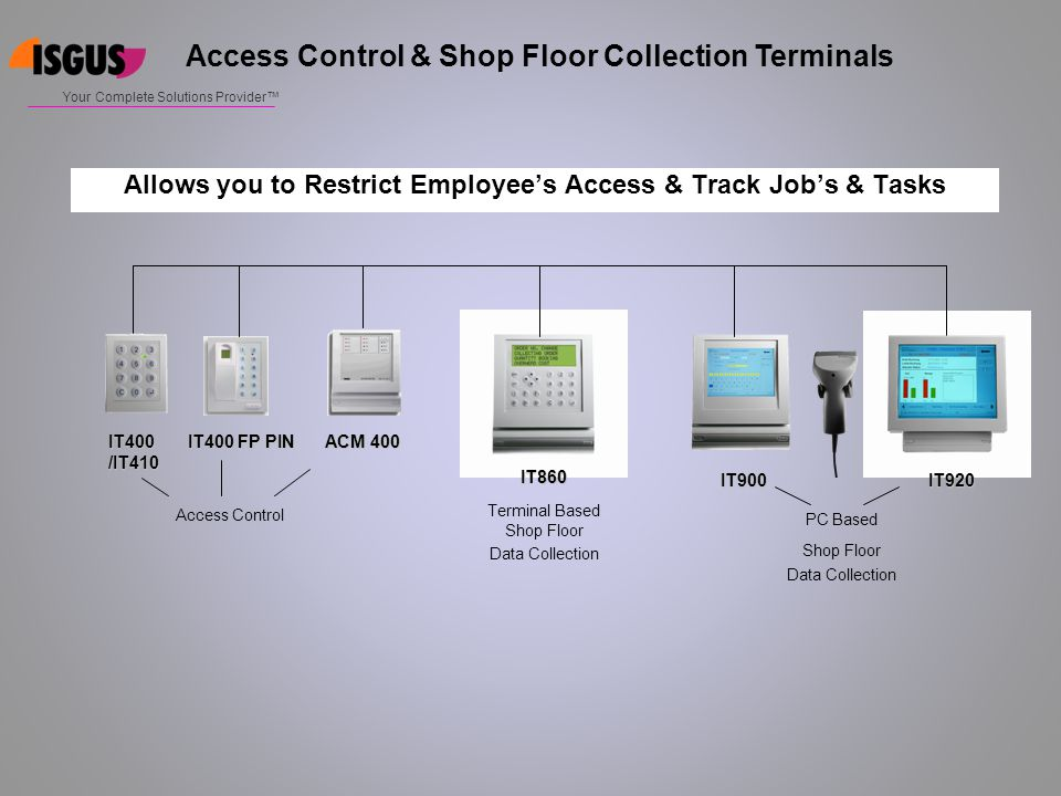 Access Control & Shop Floor Collection Terminals