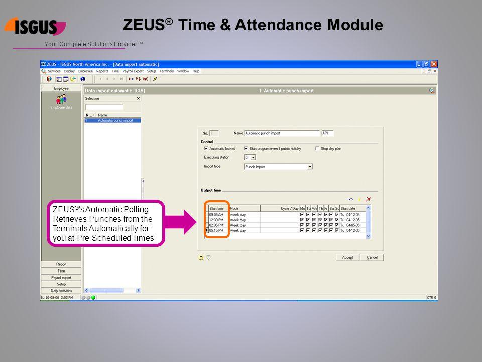 ZEUS® Time & Attendance Module