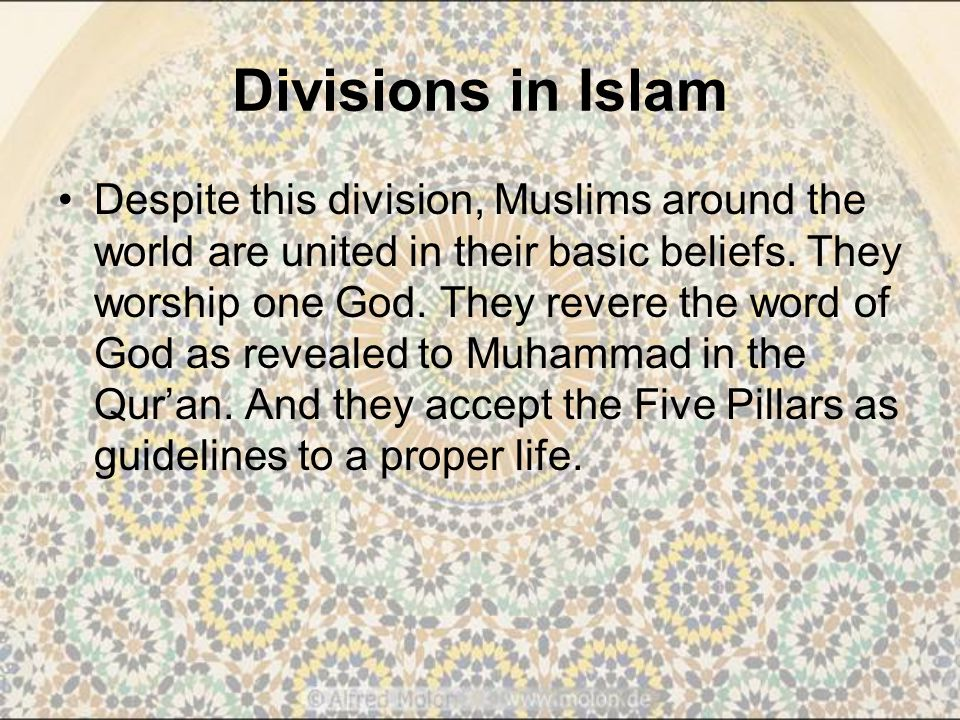 Divisions in Islam