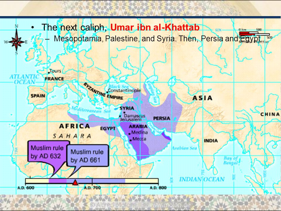 The next caliph, Umar ibn al-Khattab