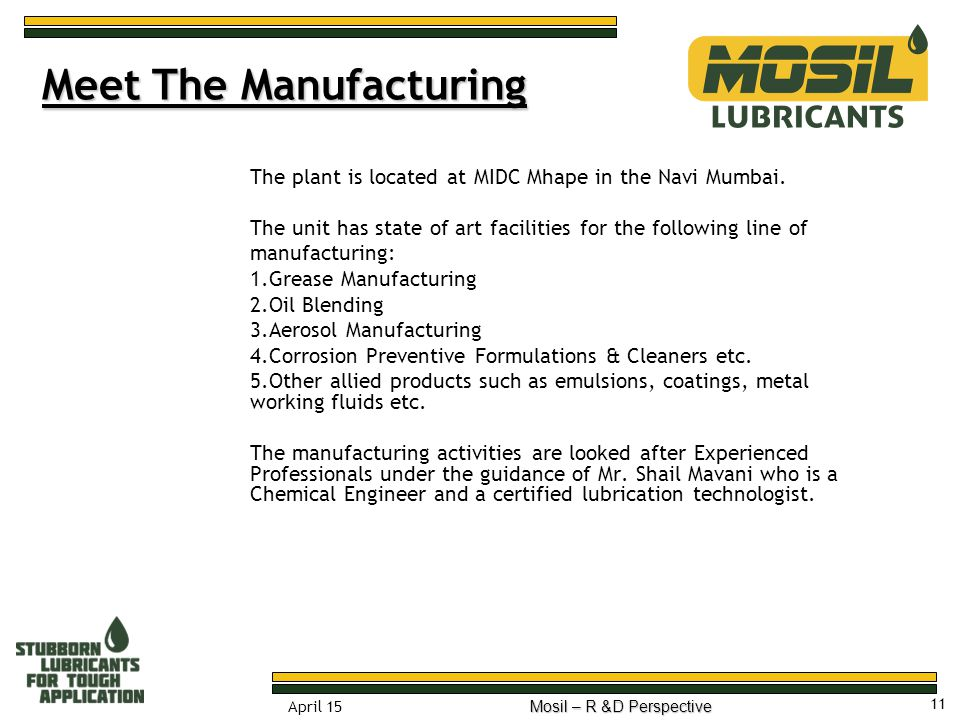 Meet The Manufacturing