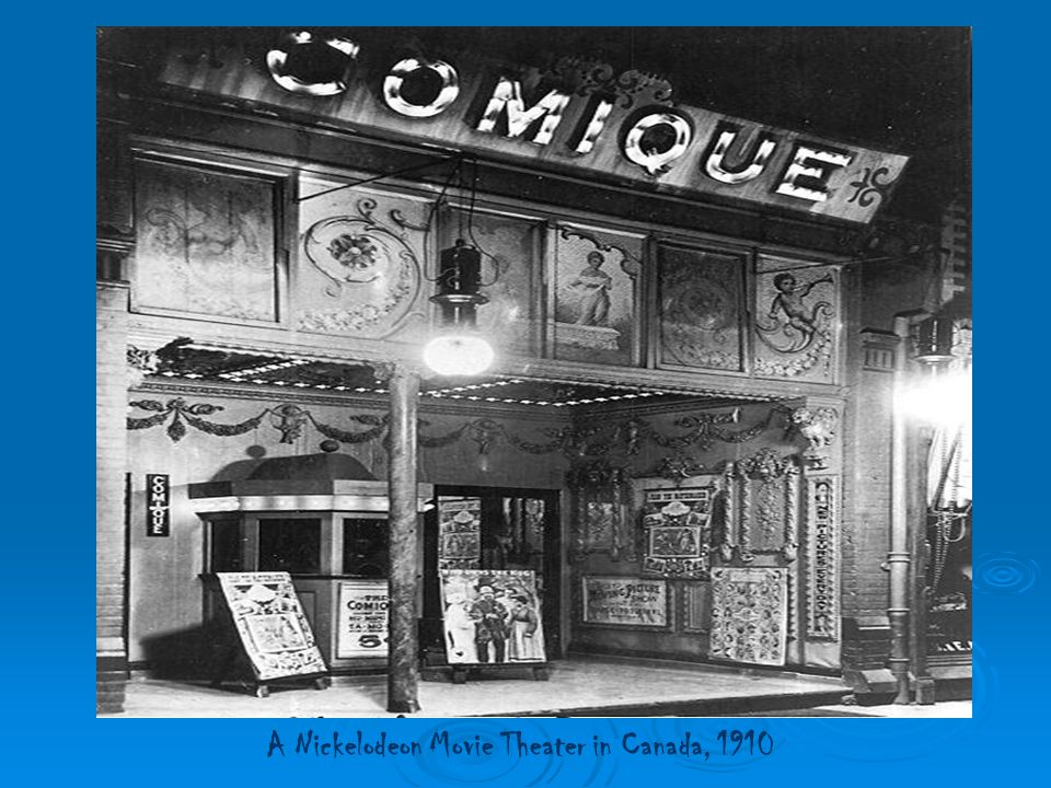 A Nickelodeon Movie Theater in Canada, 1910