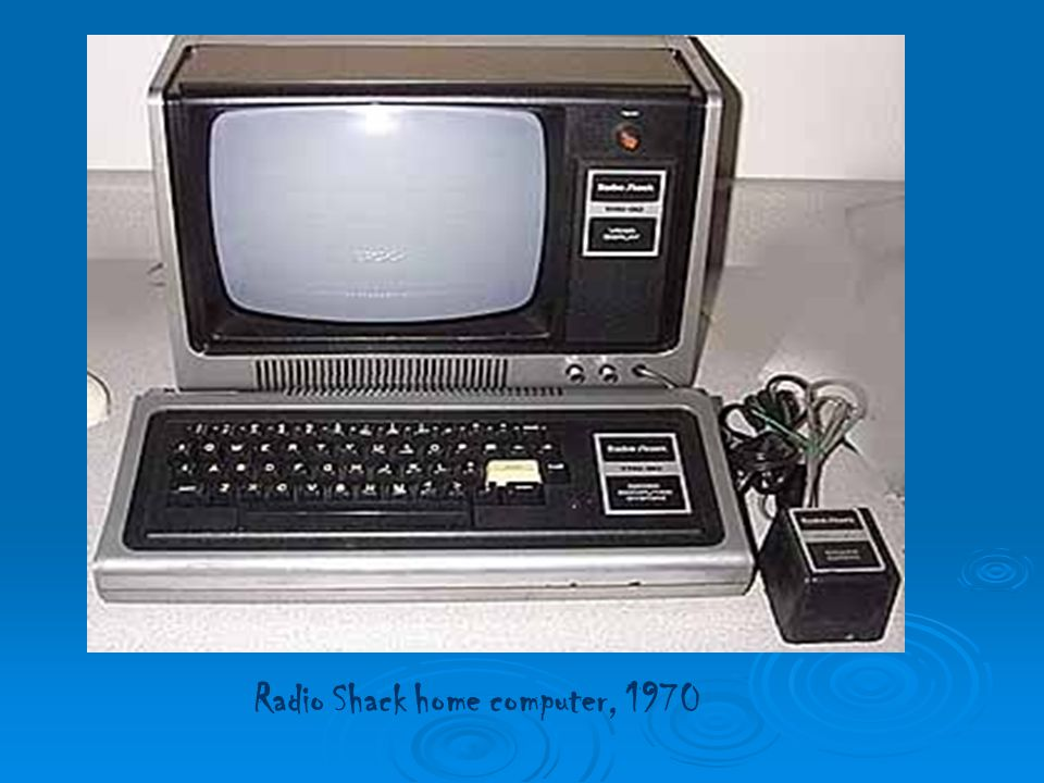 Radio Shack home computer, 1970