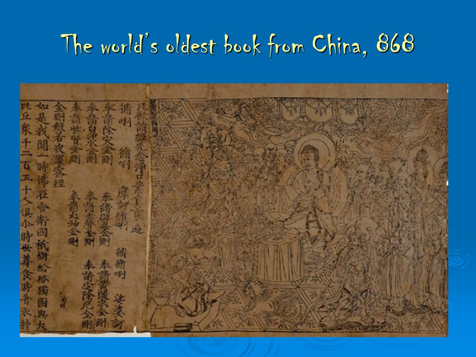 The world's oldest book from China, 868