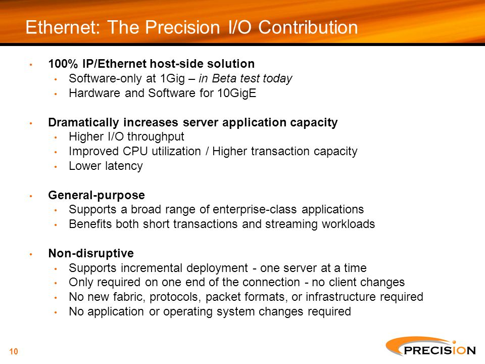 Ethernet: The Precision I/O Contribution