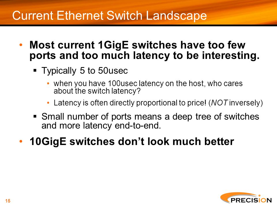 Current Ethernet Switch Landscape