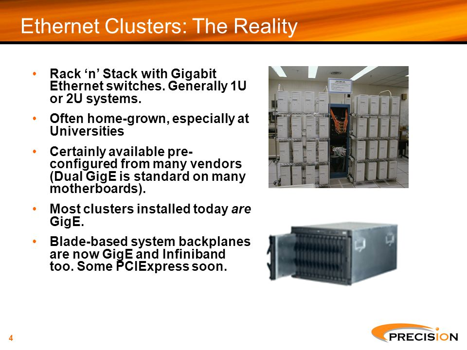 Ethernet Clusters: The Reality