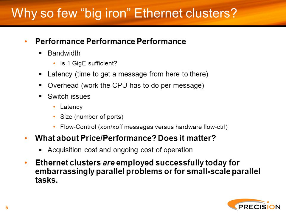 Why so few big iron Ethernet clusters