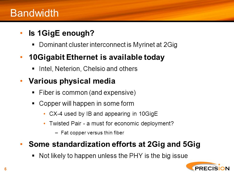 Bandwidth Is 1GigE enough 10Gigabit Ethernet is available today
