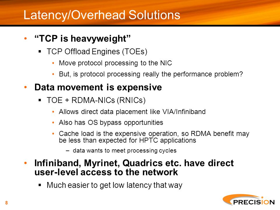 Latency/Overhead Solutions