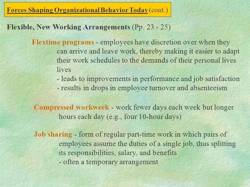 Flexible, New Working Arrangements (Pp. 23 - 25)