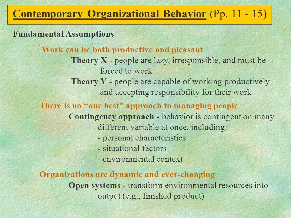 Contemporary Organizational Behavior (Pp. 11 - 15)