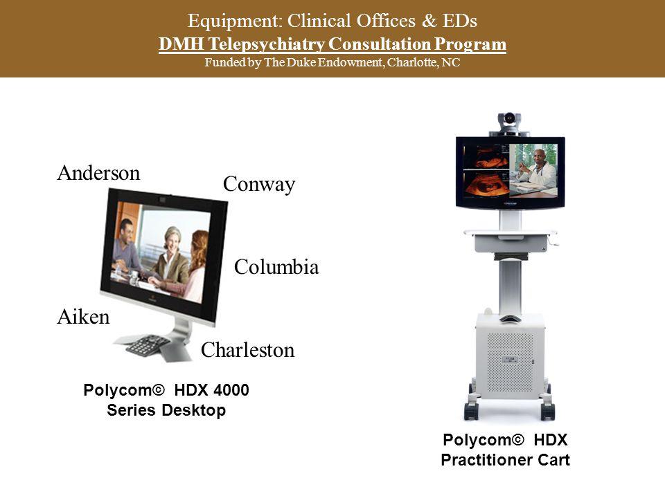 Polycom© HDX 4000 Series Desktop Polycom© HDX Practitioner Cart