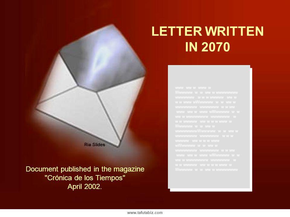 LETTER WRITTEN IN 2070. www ww w www w. Wwwwww w w ww w wwwwwwww wwwwwww w w w wwwww ww w w w www wWwwwww w w ww w wwwwwwww wwwwwww w w ww.
