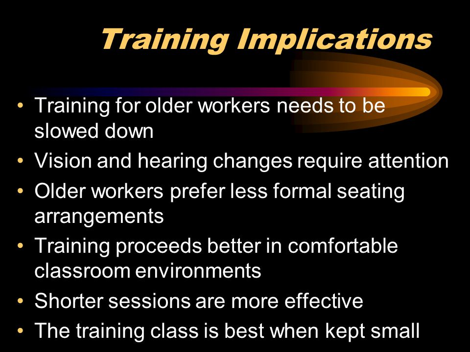 Training Implications