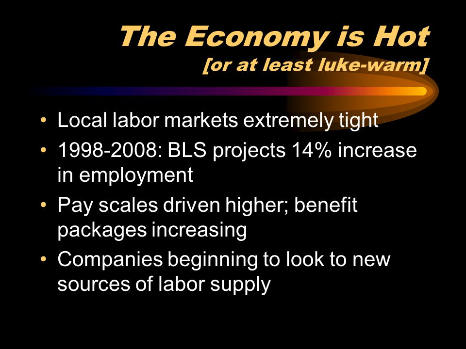 The Economy is Hot [or at least luke-warm]