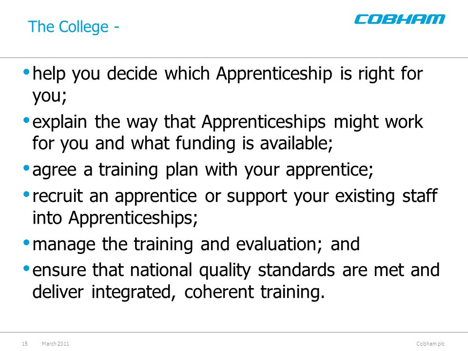 Apprenticeships - Progression