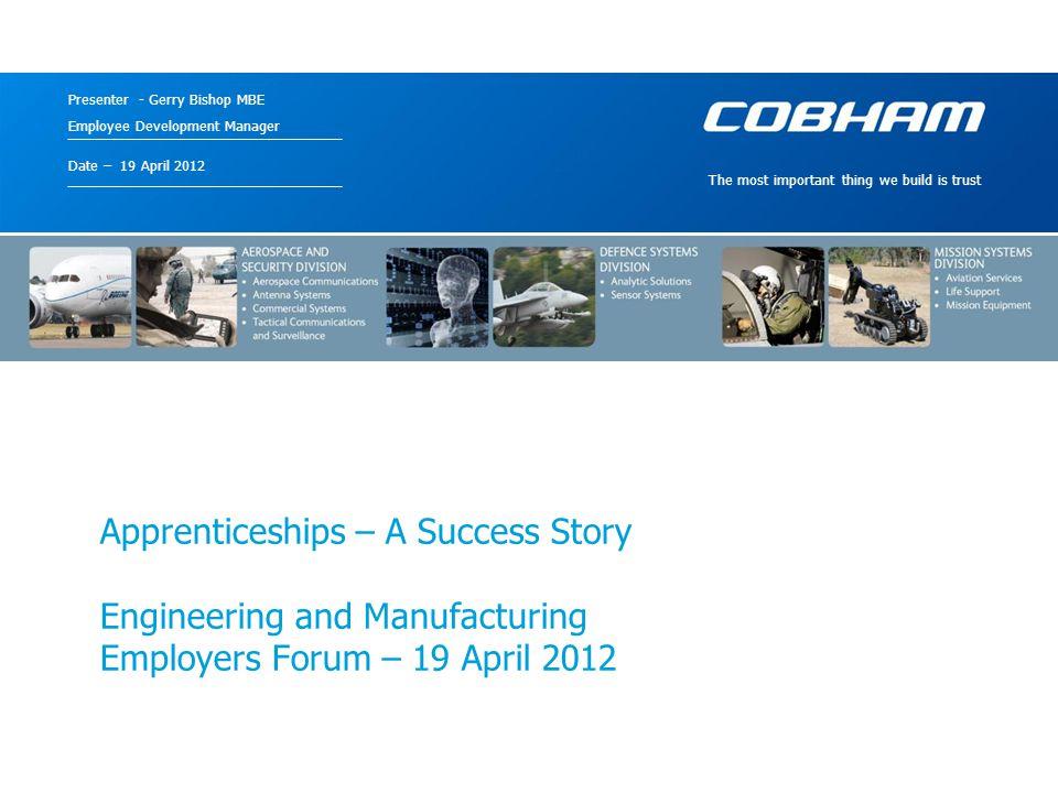 Cobham – a Brief History Apprenticeships