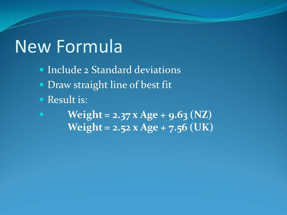 New Formula Include 2 Standard deviations