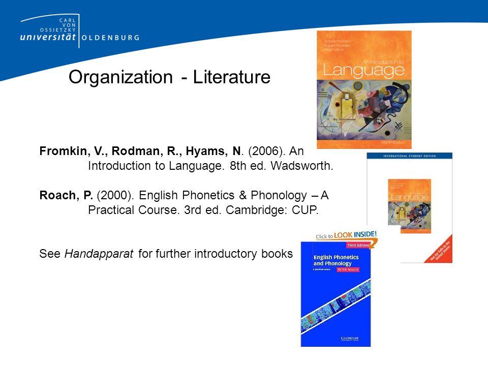 Organization - Literature