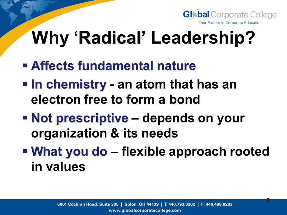 Why 'Radical' Leadership