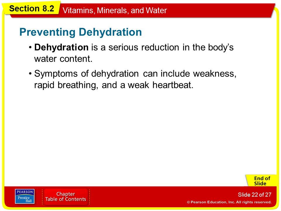 Preventing Dehydration