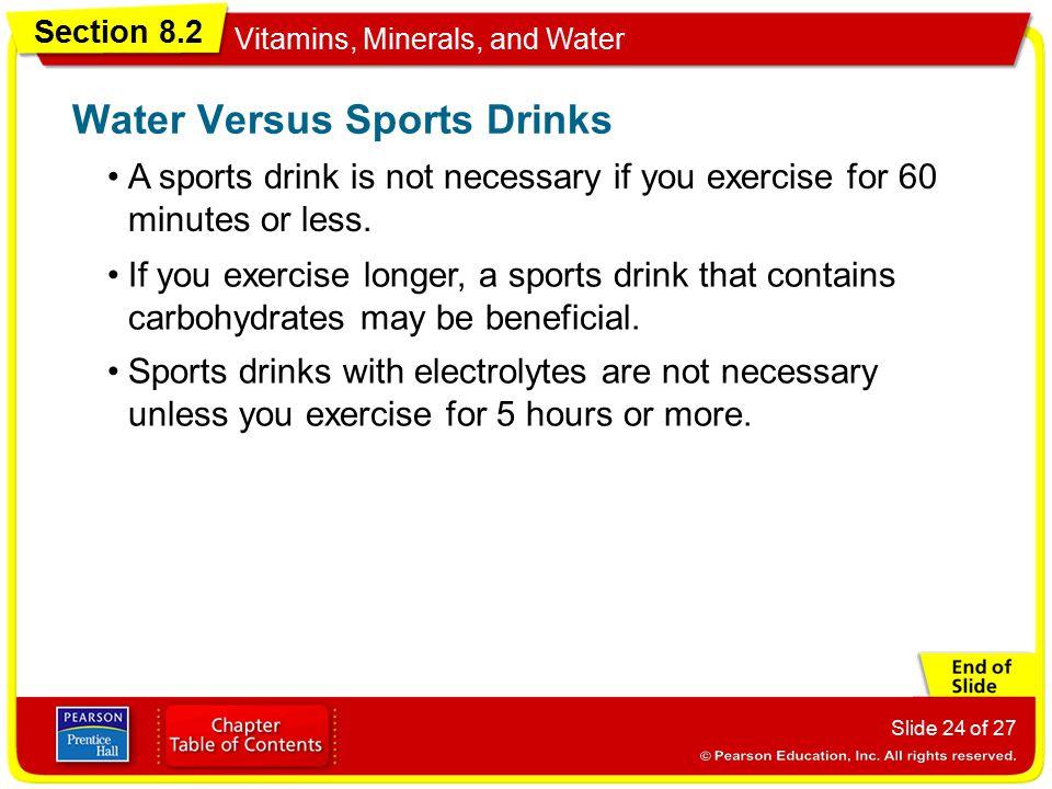 Water Versus Sports Drinks
