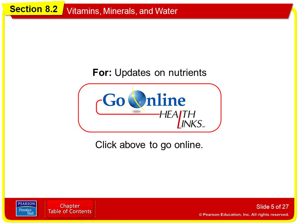 For: Updates on nutrients