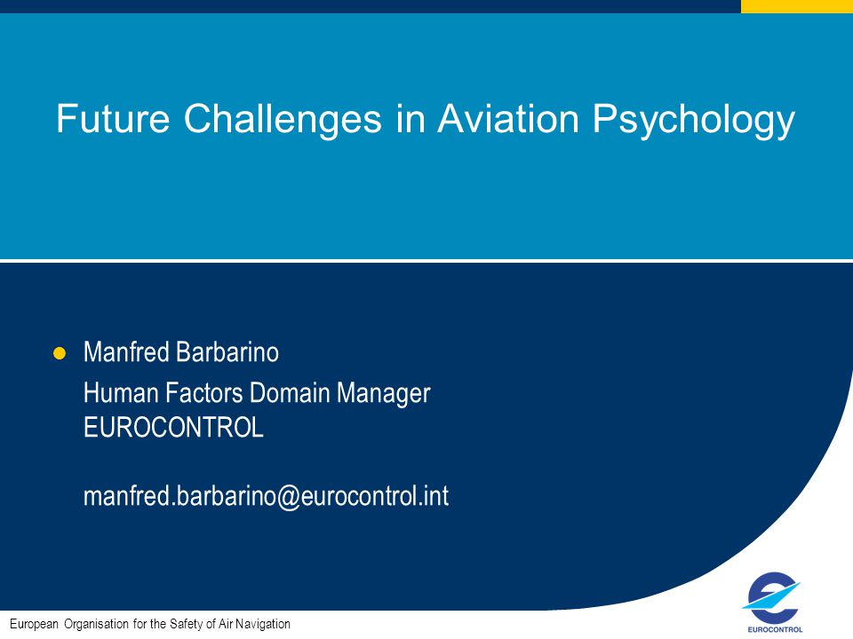Future Challenges in Aviation Psychology