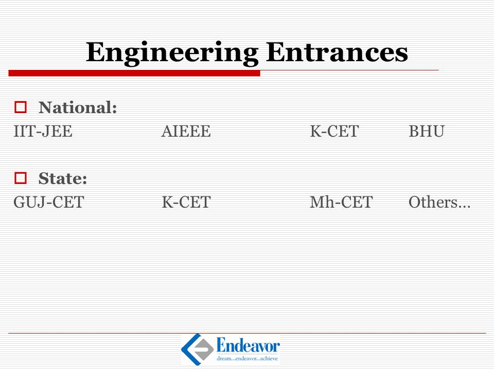 Engineering Entrances
