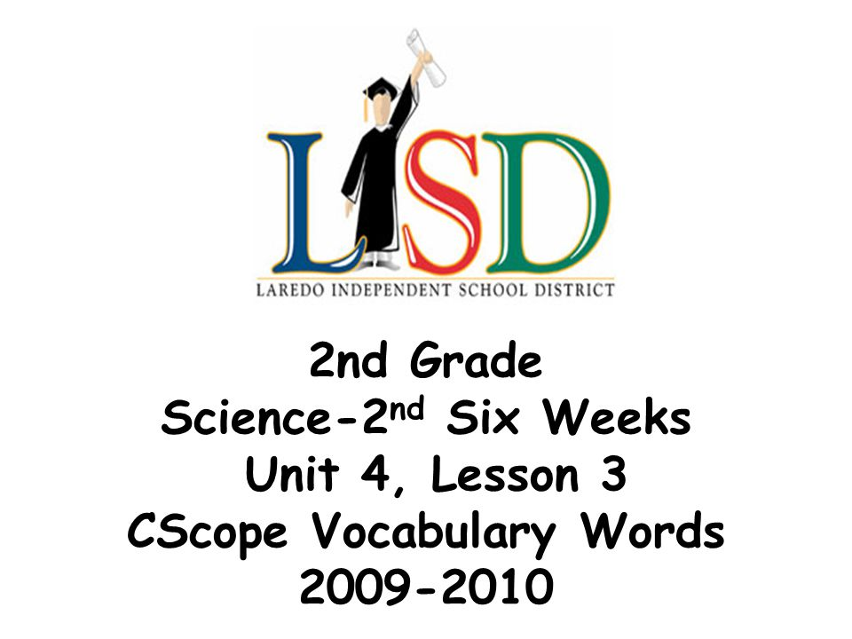 2nd Grade Science-2nd Six Weeks Unit 4, Lesson 3 CScope Vocabulary Words 2009-2010