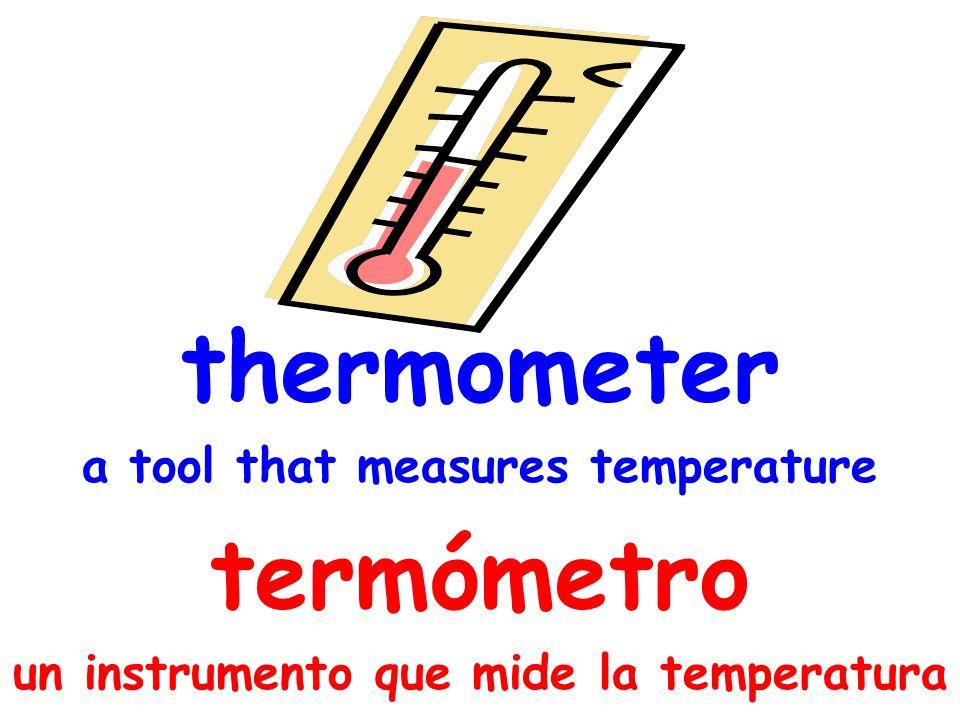 thermometer termómetro