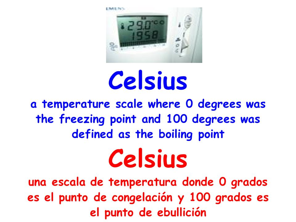 Celsius a temperature scale where 0 degrees was